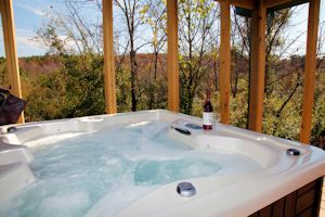Hottub on the covered porch