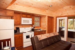 Shawnee Forest Cabin Rental - Kitchen