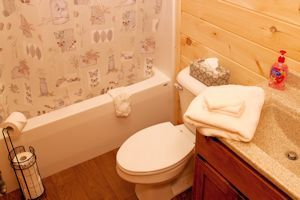 Cabin bathroom - All towels and linens