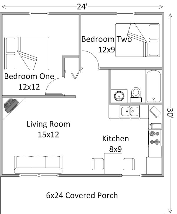 Two Bedroom Cabin Plans