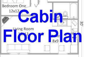 2 bedroom log cabin floor plan