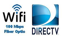 FREE fast WIFI and Direct TV